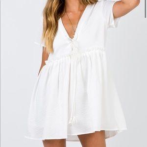 Princess Polly Maritimo Mini Dress WHITE